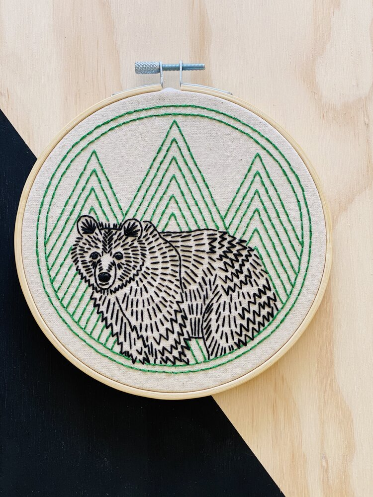 Embroidery Kit bear with me
