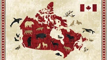 Oh Canada Panel Map 20864-24
