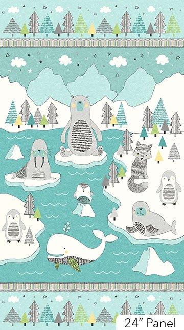 Polar Pals Panel by Northcott Studio