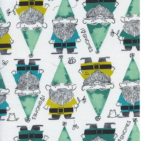 Gnomes in Green- Front Yard by Cotton + Steel