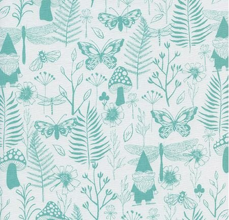 Garden in Teal- Front Yard by Cotton + Steel