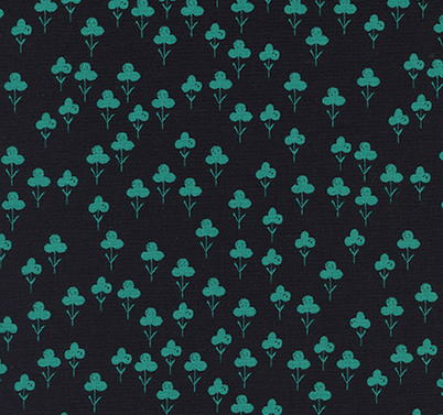 Clovers in Teal- Front Yard by Cotton + Steel