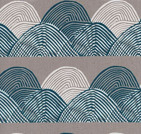 Headlands Midnight- Cotton/Linen Blend- Imagined Landscapes