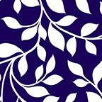 108 Wide back Vine Navy