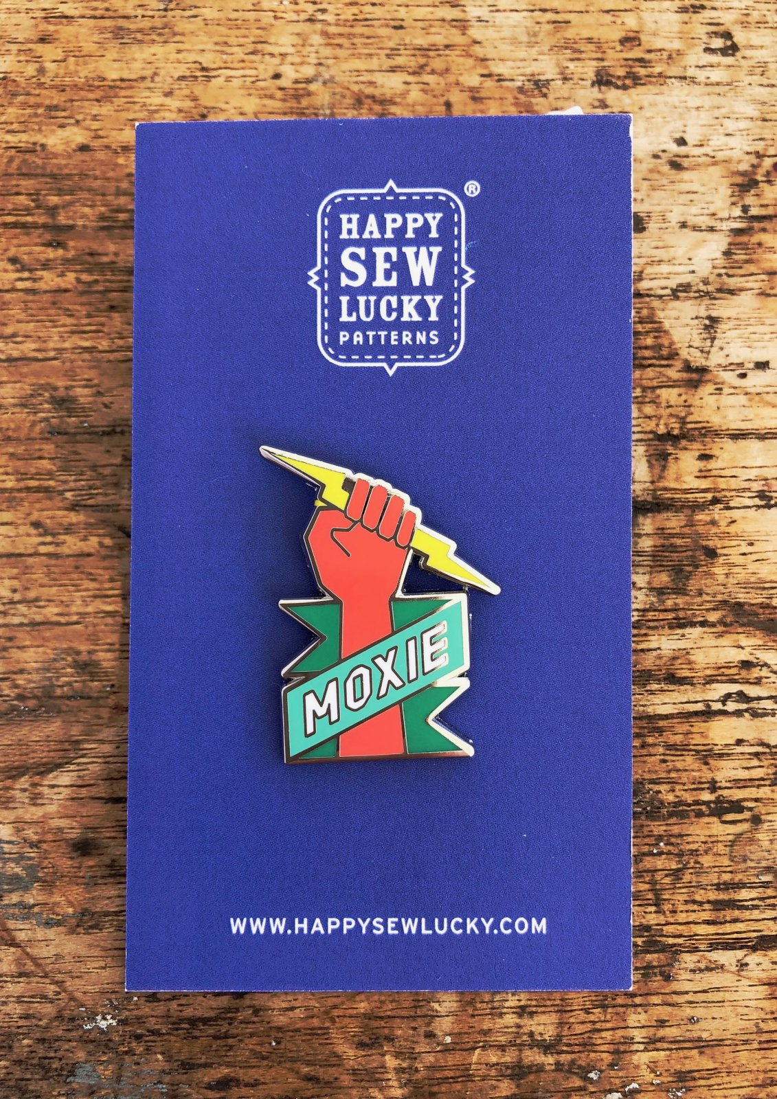 MOXIE Enamel Pin by Happy Sew Lucky