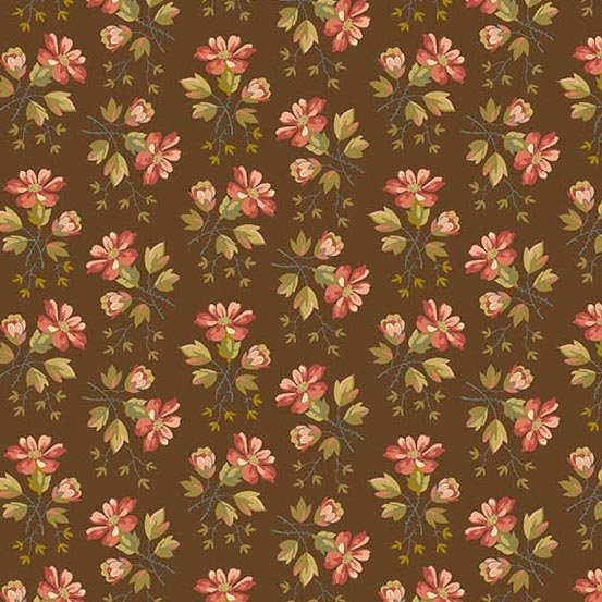 Skinny Bolt Sale- 4.25m of Crystal Farm Chestnut Wildflower by Laundry Basket Quilts