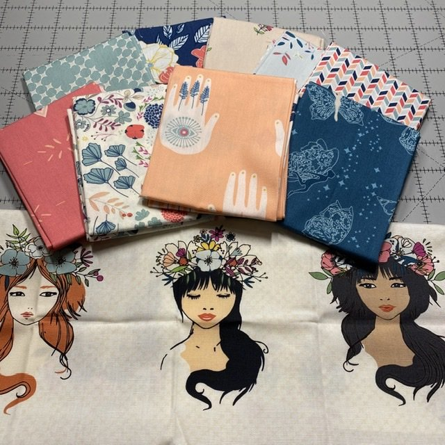 Fat Quarter Bundle- 10pc Flower Child- AGF