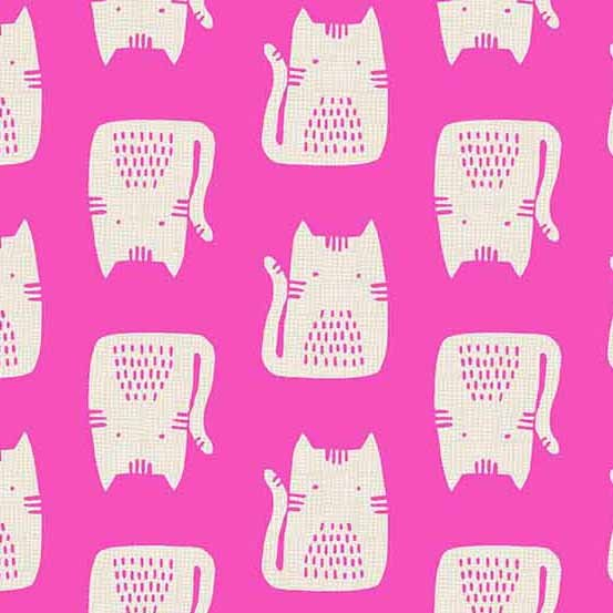 Cats and Dogs Pink CAT by Sarah Golden