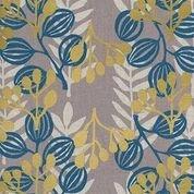 Meadow Midnight Cotton/Linen Blend Imagined Landscapes by Jen Hewett