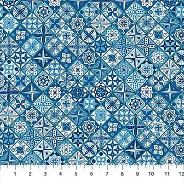 Oasis- Tiles Navy/Multi