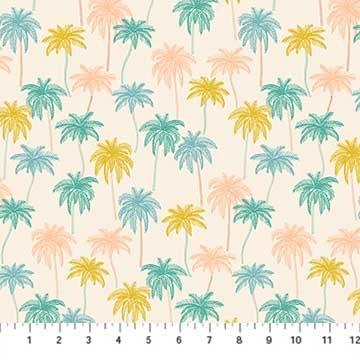 Oasis- Palm Trees Beige