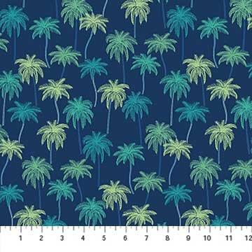 Oasis- Palm Tress Navy