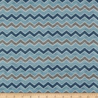 A Day at the Lake- Chevron Blue