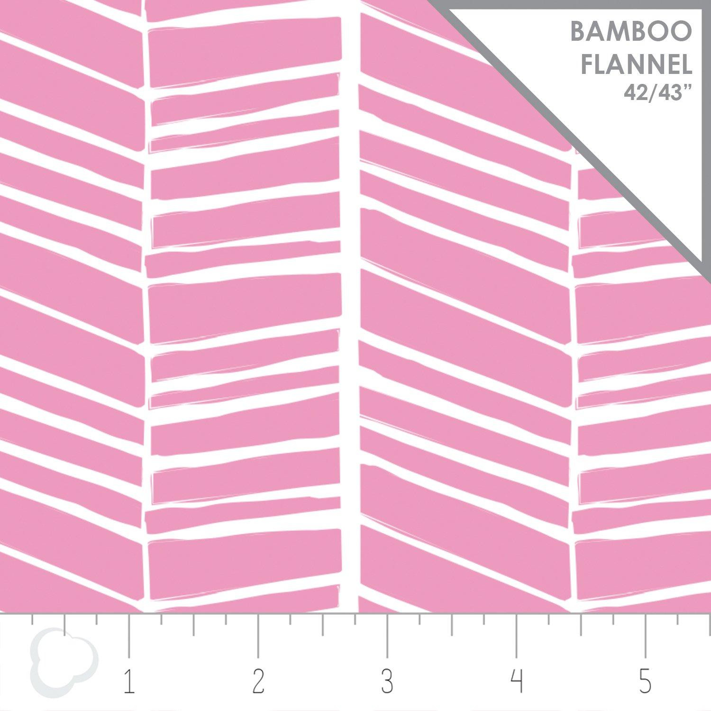 Nursey Program Chevron Begonia Bamboo Flannel