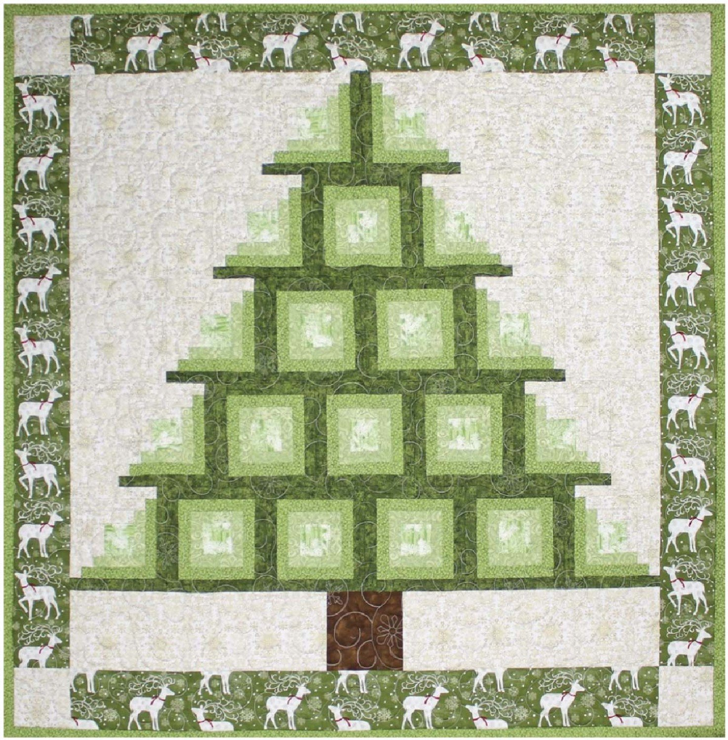 Log Cabin Tree Pattern Sheet