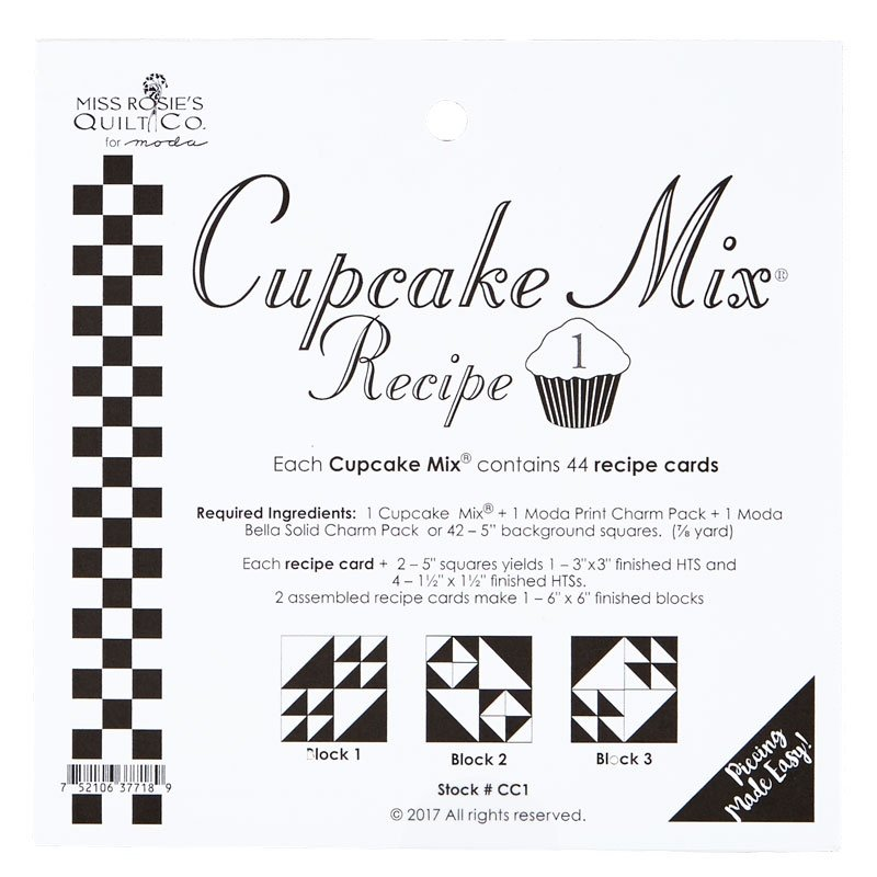 Cupcake Mix Recipe #1 by Miss Rosie's Quilt Co.