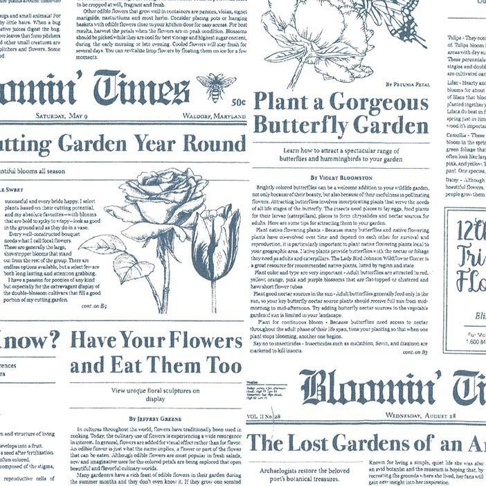 Flower Shop- Bloomin' Times in Periwinkle