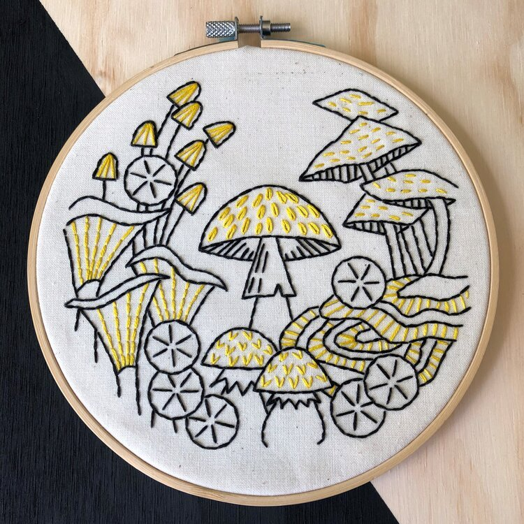 Embroidery Kit fungus among us