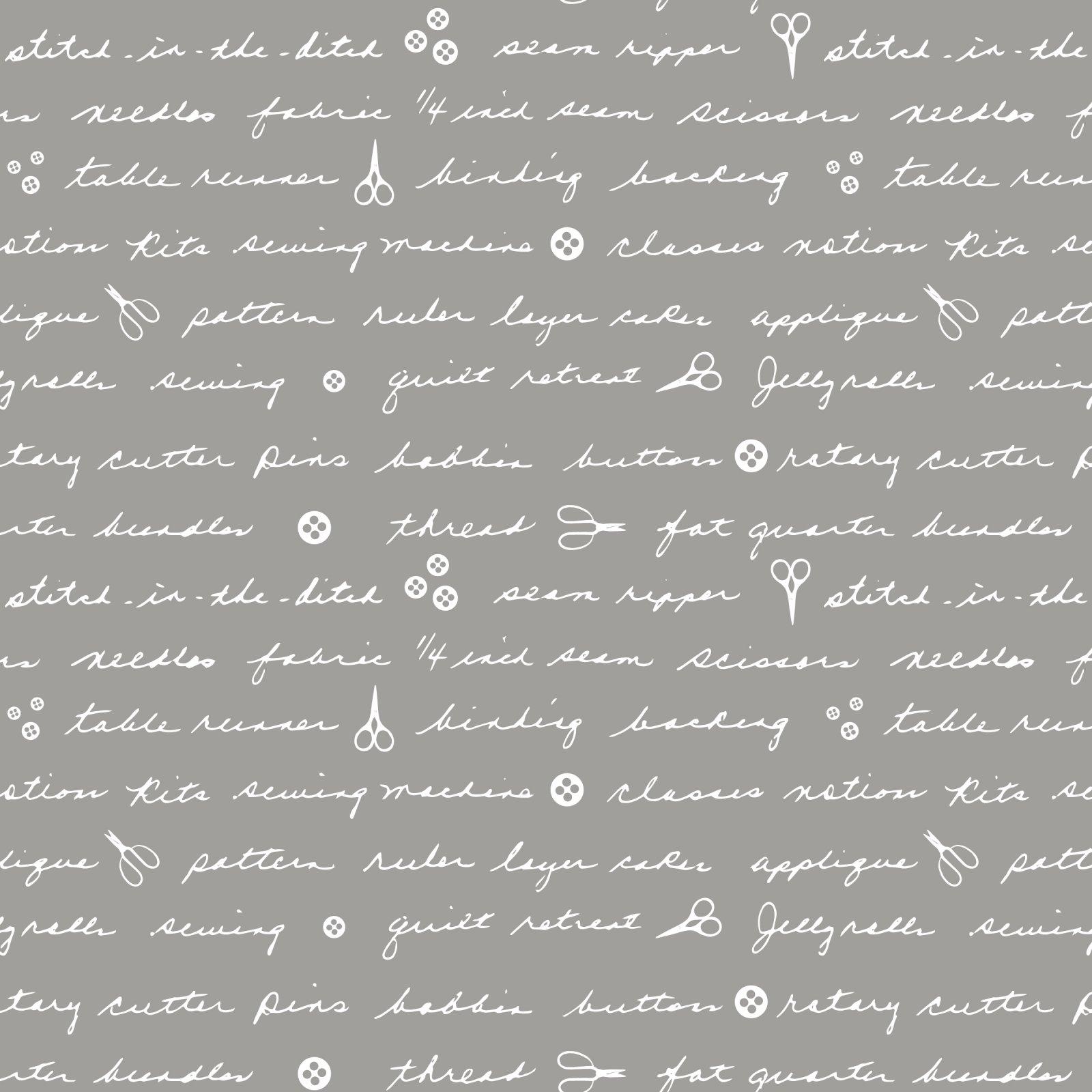 Moms Handwriting Grey by Sweet Bee
