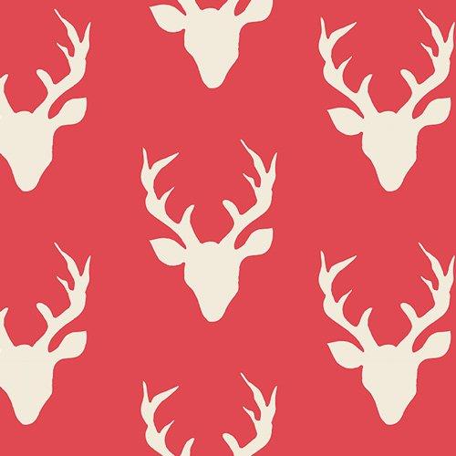 Hello, Bear - Buck Forest Carmine by Art Gallery Fabrics