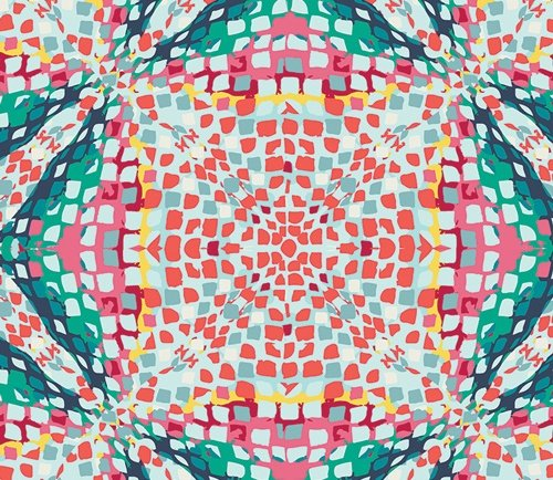 Sunkissed Kaleidoscope Poolside by AGF