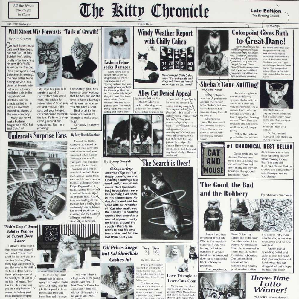 Meow Time Newspaper Print