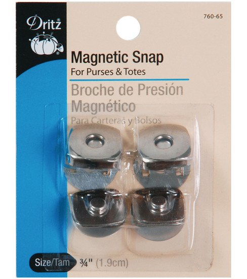 Magnetic Snaps Silver for bags
