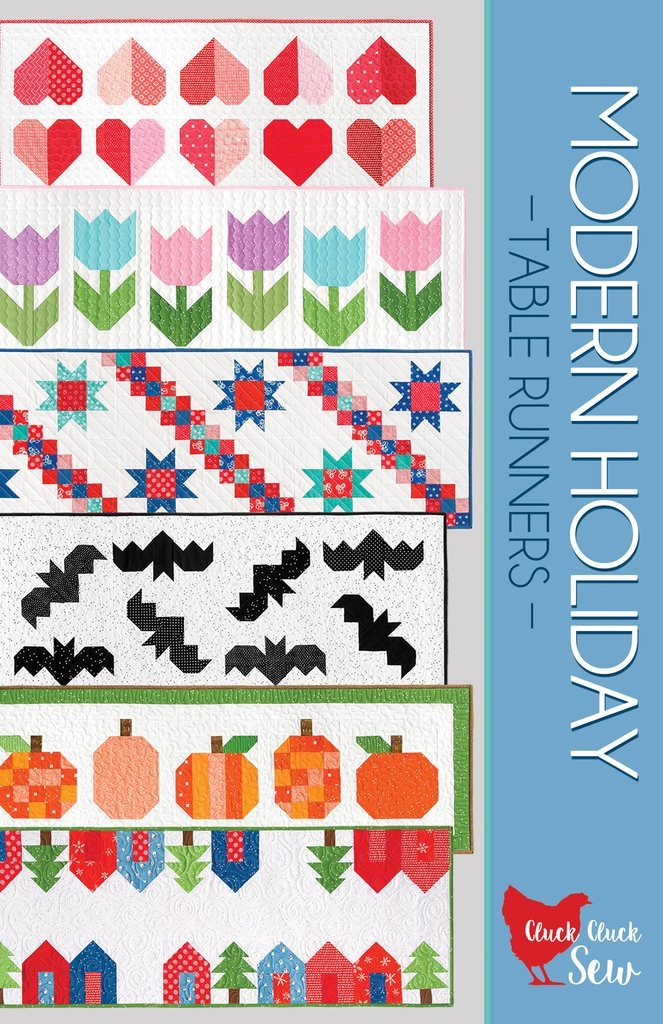 Modern Holiday Table Runners Cluck Cluck Sew