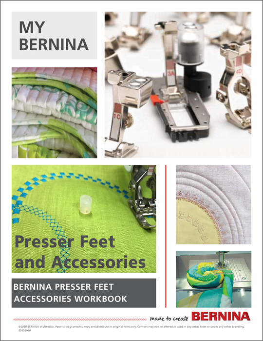 My BERNINA Accessories Mastery Workbook