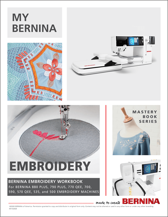 My BERNINA Embroidery Machines Mastery Workbook
