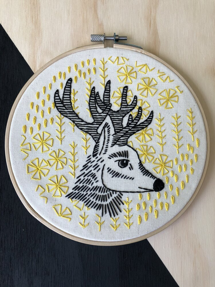 Embroidery Kit Oh deer me