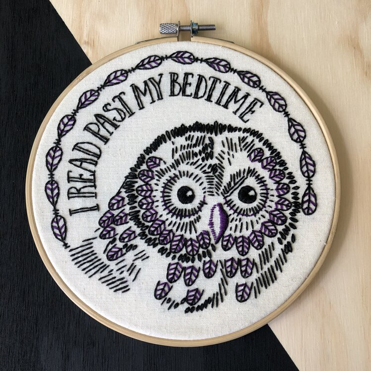Embroidery Kit I read past my bedtime