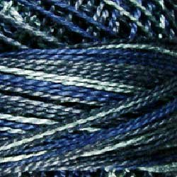 Valdani Variegated Pearl Cotton Ball SZ12 109yd Withered Blue P7