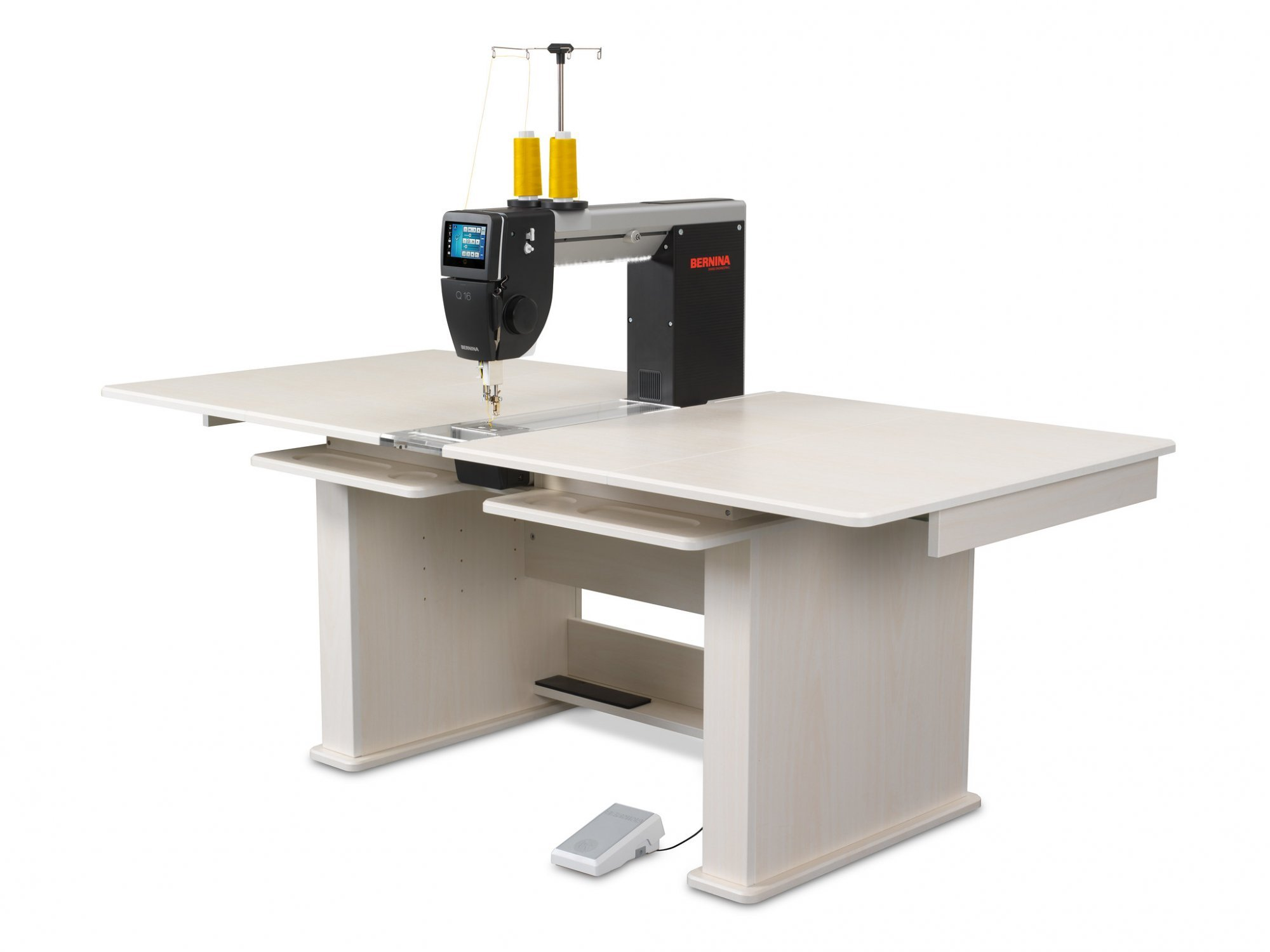 Bernina Q16 Sit Down Sewing Machine with Standard table- White Ash or Golden Teak