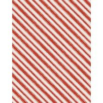 Friendly Gathering -  Diagonal Stripe Taupe/Red