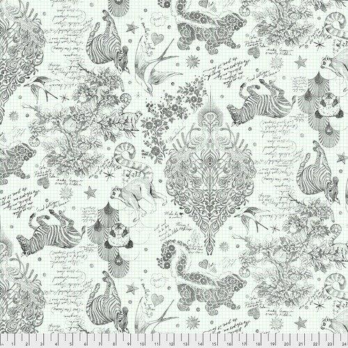 PRE ORDER- Tula Pink Linework- WideBack Sketchyer - Paper