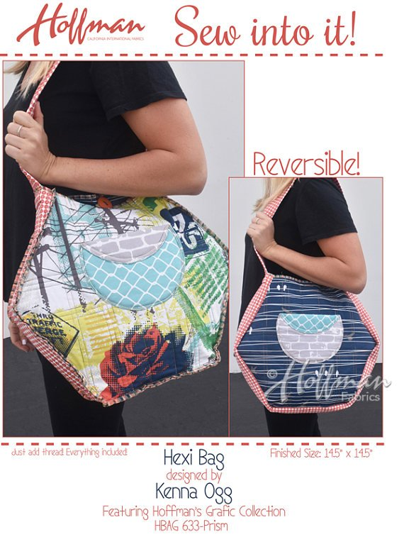 Hexi Bag from Hoffman Sew into it!
