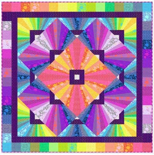 PRE-SALE: Quilt Kit: Solar Flare Foundation Paper Piecing using Tula Pink
