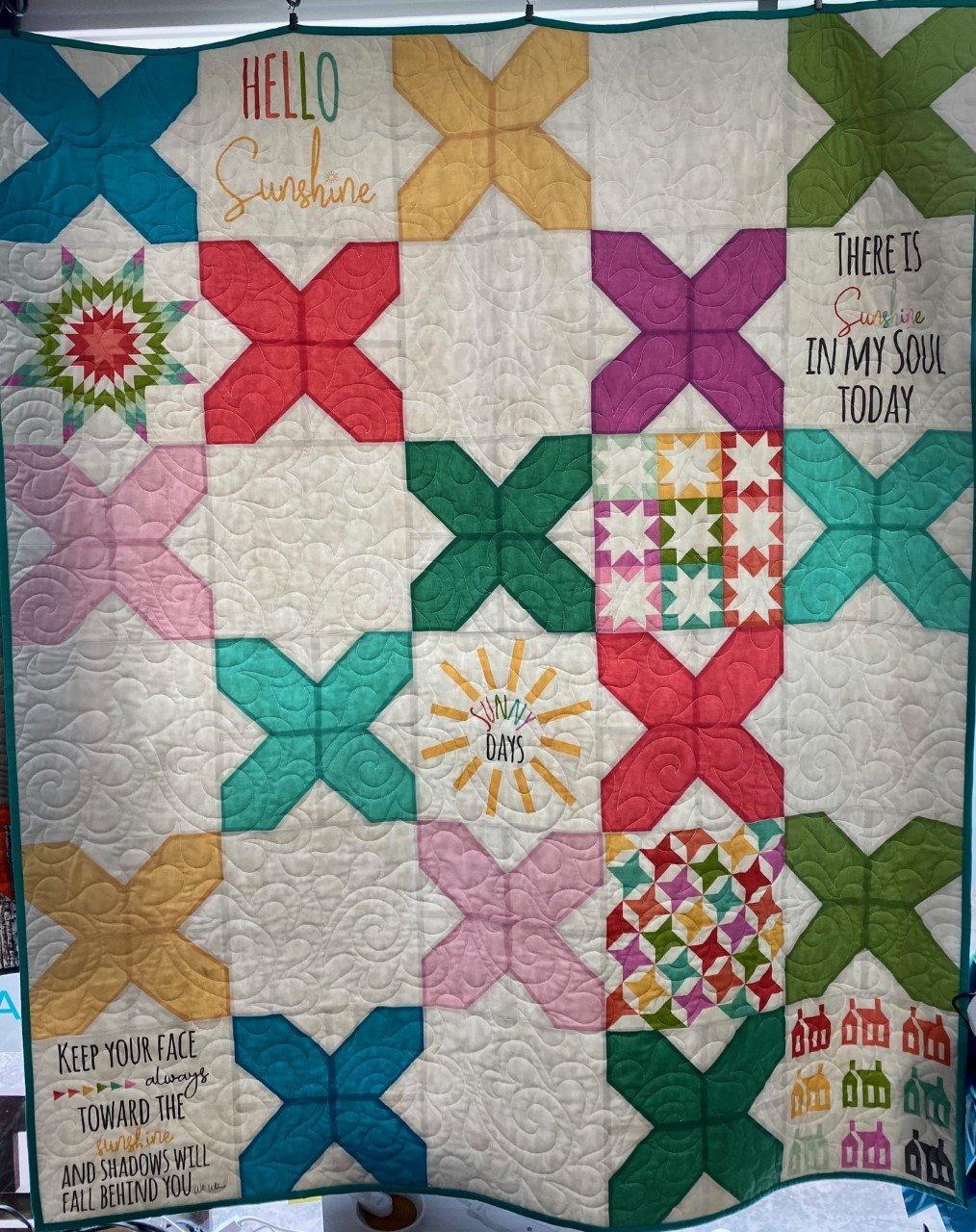 Quilt Kit: Cross Stitched