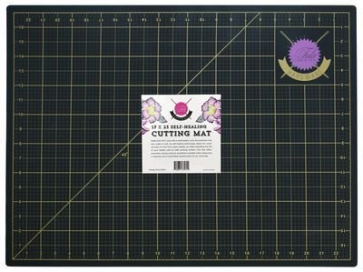 Tula Pink Black and Gold Cutting Mat