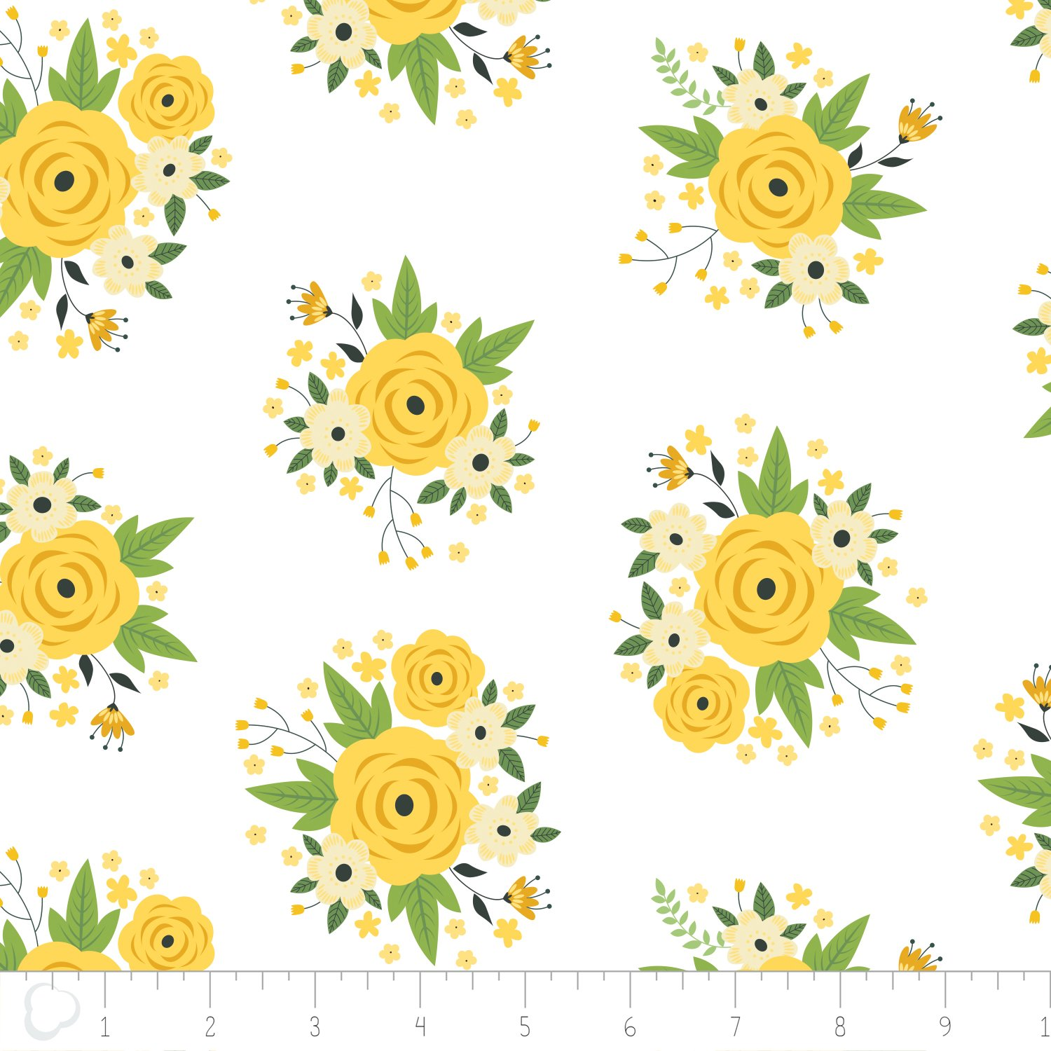 Bright Side Meadow Floral in White