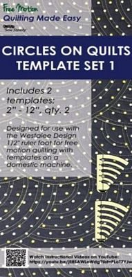 Westalee Circles Set 1 Quilting Rulers