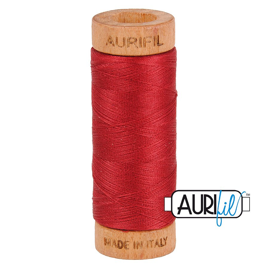 Aurifil Cotton Mako Thread 80wt 280m BMK80 1103 Red