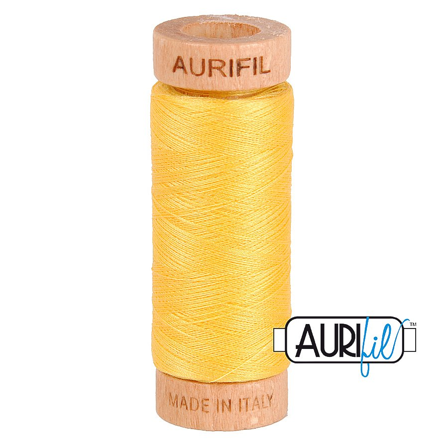 Aurifil Cotton Mako Thread 80wt 280m BMK80 1135 Yellow
