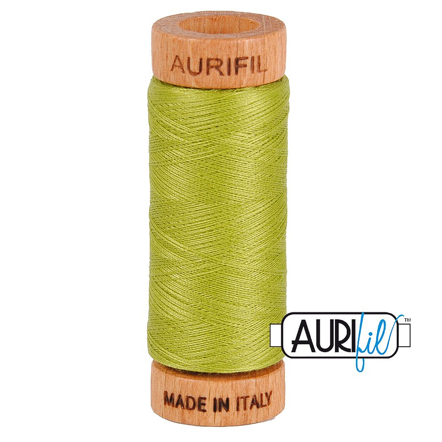 Aurifil Cotton Mako Thread 80wt 280m BMK80 1147 Lime Green