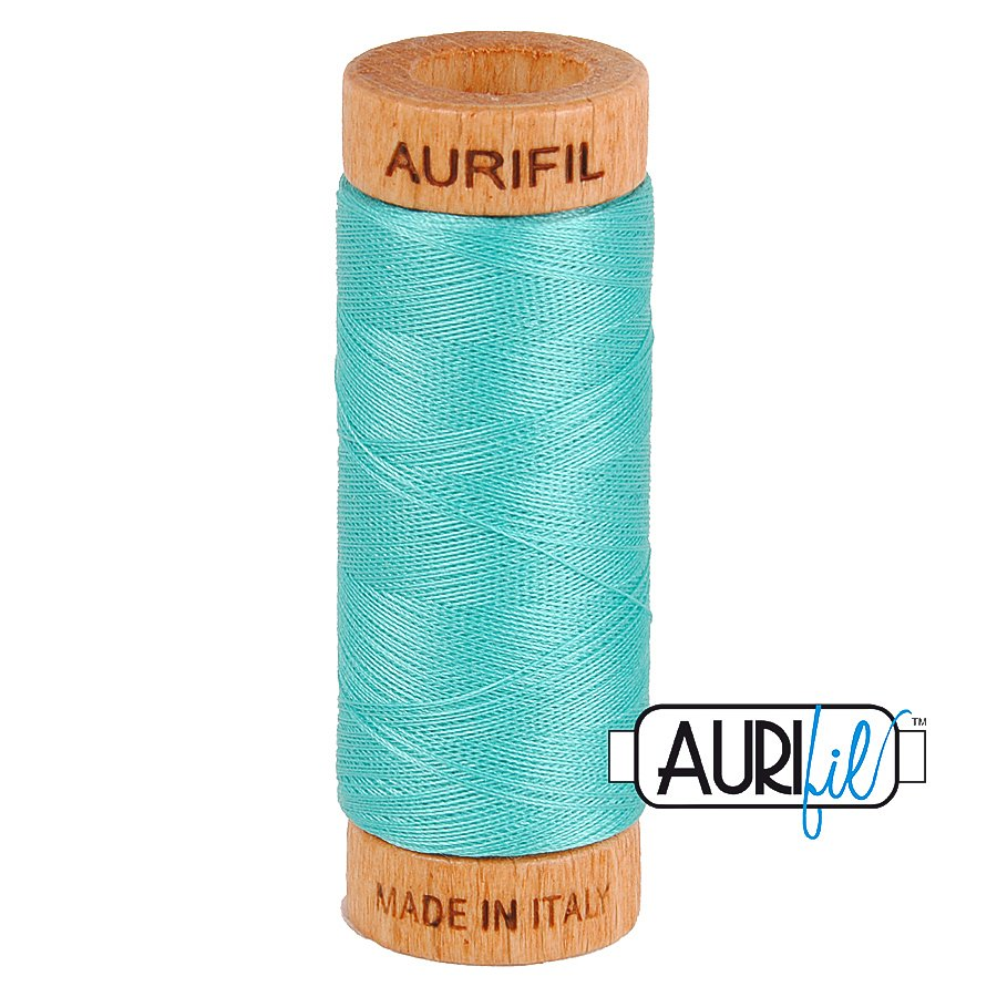 Aurifil Cotton Mako Thread 80wt 280m BMK80 1148 Turquoise Blue