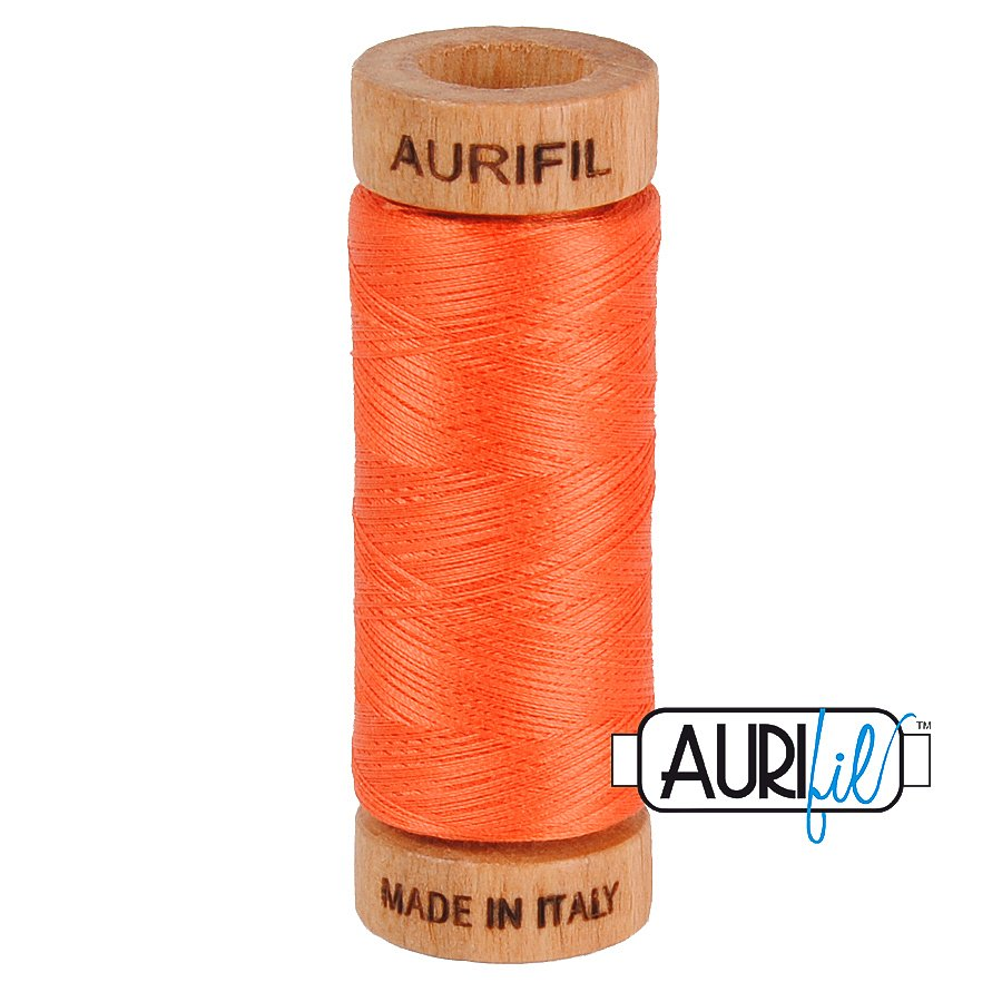 Aurifil Cotton Mako Thread 80wt 280m BMK80 1154 Persimmon Orange