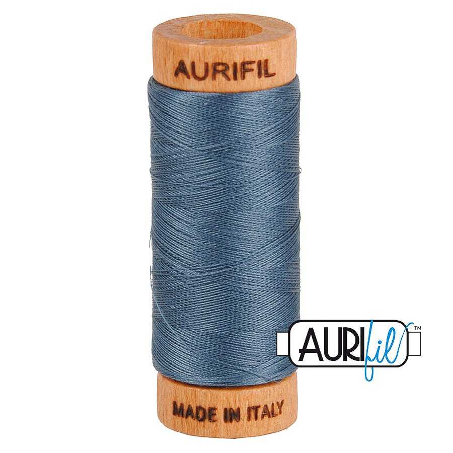Aurifil Cotton Mako Thread 80wt 280m BMK80 1158 Gray Blue