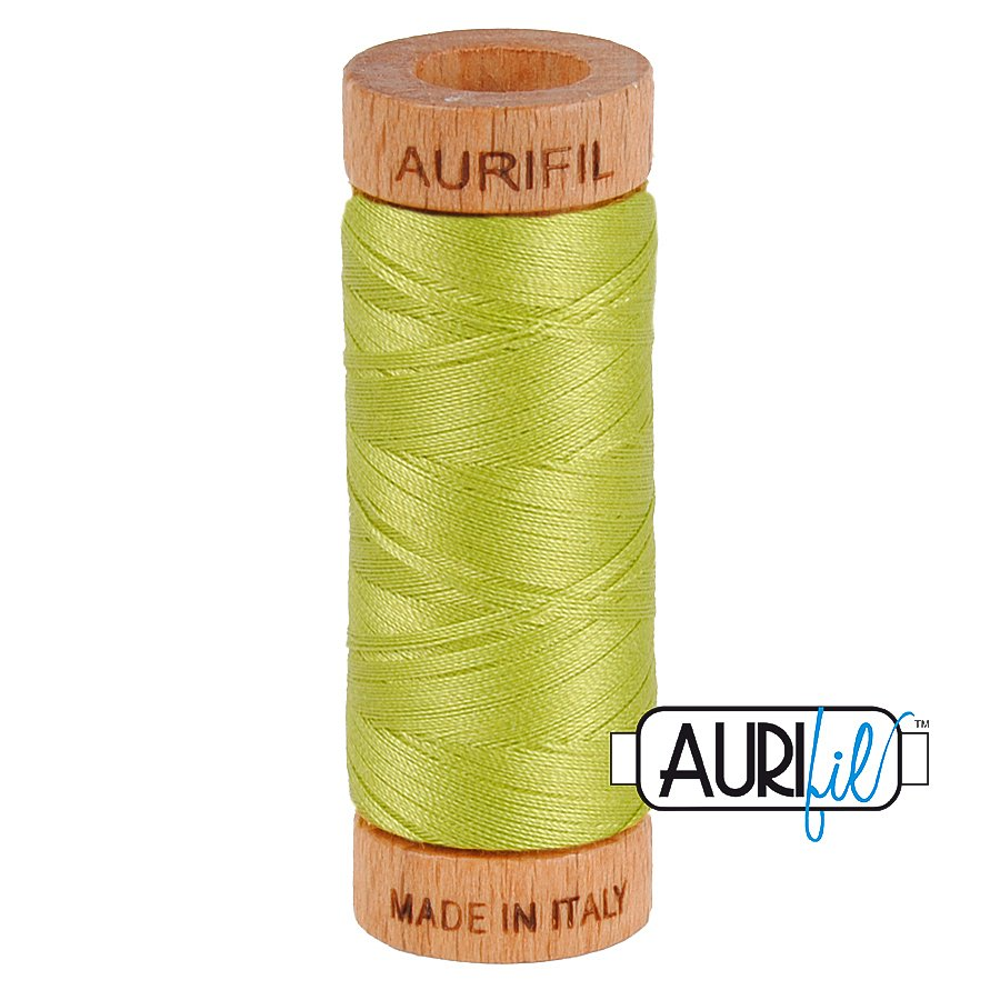 Aurifil Cotton Mako Thread 80wt 280m BMK80 1231 Yellow Green
