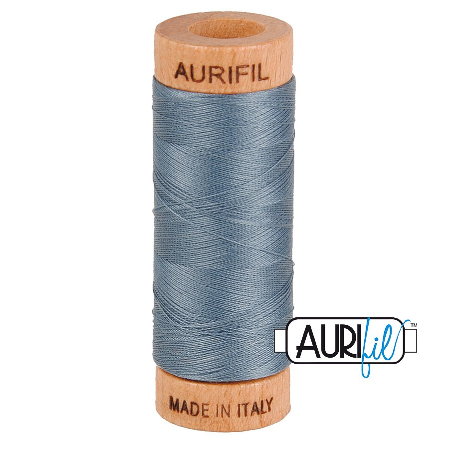 Aurifil Cotton Mako Thread 80wt 280m BMK80 1246 Gray Blue